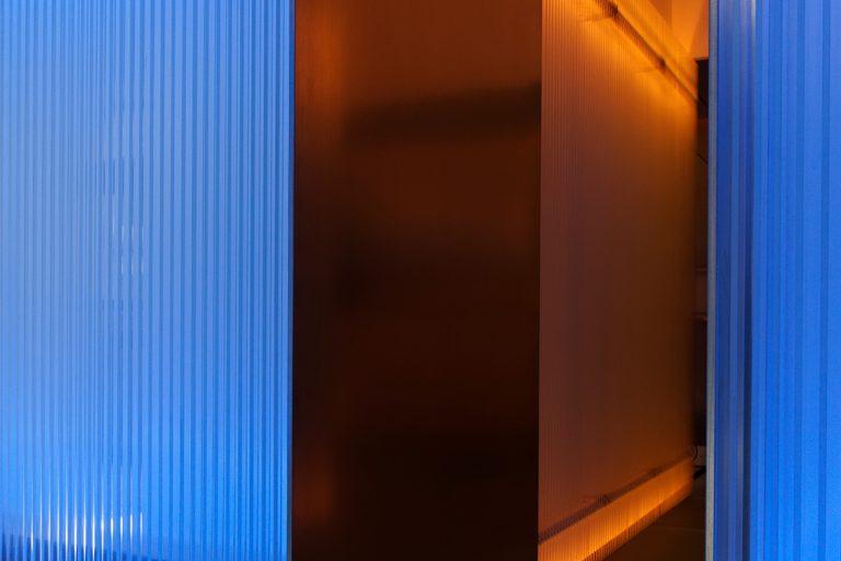 Blue Glass Bar, IED Madrid, 2012 / Galan Lubascher architects