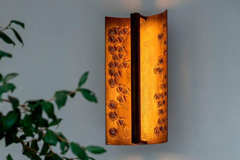 La teja, wall lamp for Katia's garden